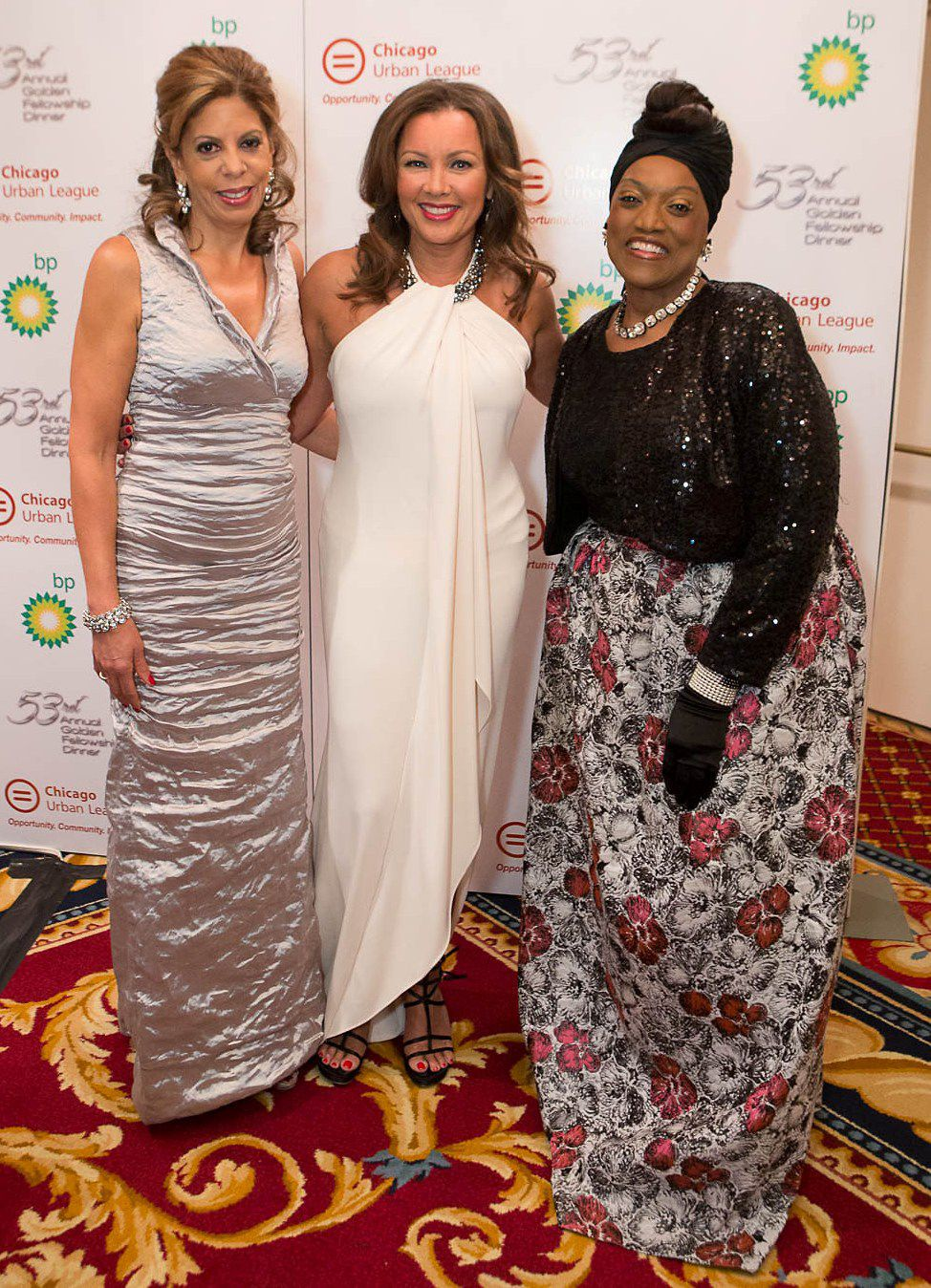 Andrea Zopp (then-president of the Chicago Urban League) is joined by Vanessa Williams and Jessye Norman at the Leagues' 53rdAnnual Golden Fellowship Dinner in 2014 where Norman was honored.