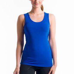 """<b>Lolë</b> Pinnacle top in Persian blue, <a href=""""http://www.lolewomen.com/lsw1077.html"""">$30</a>"""