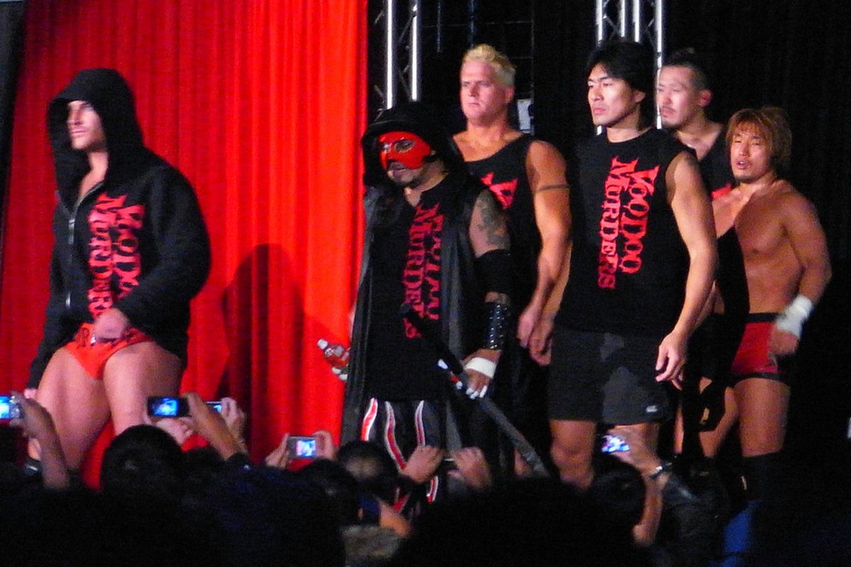 A sad end to The Voodoo Murderers gimmick - All Japan's lead heel faction of the last six years.  (Wikimedia Commons)