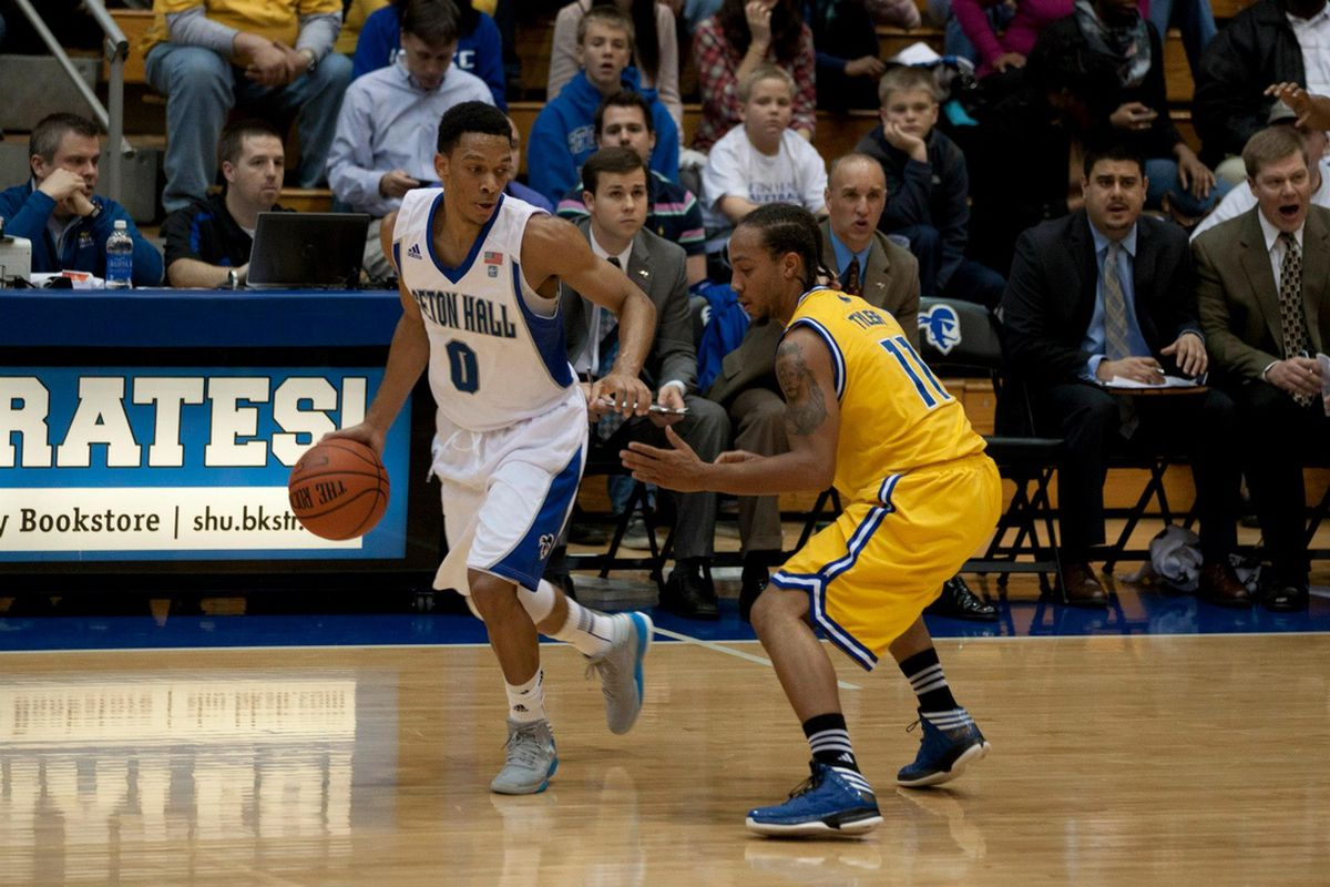 Tom Maayan controls the tempo early in Seton Hall's rout over UMKC