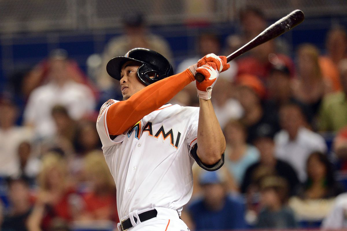 God, it would have been an absolute delight to watch Giancarlo the Glorious take glorified batting practice and thwack a couple hundred home runs. Mandatory Credit: Steve Mitchell-US PRESSWIRE
