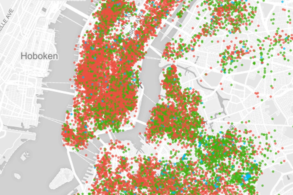 Use This Map To Explore Airbnbs Takeover Of New York City The Verge - New york map