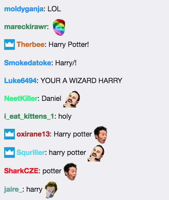 Twitch chat SNL