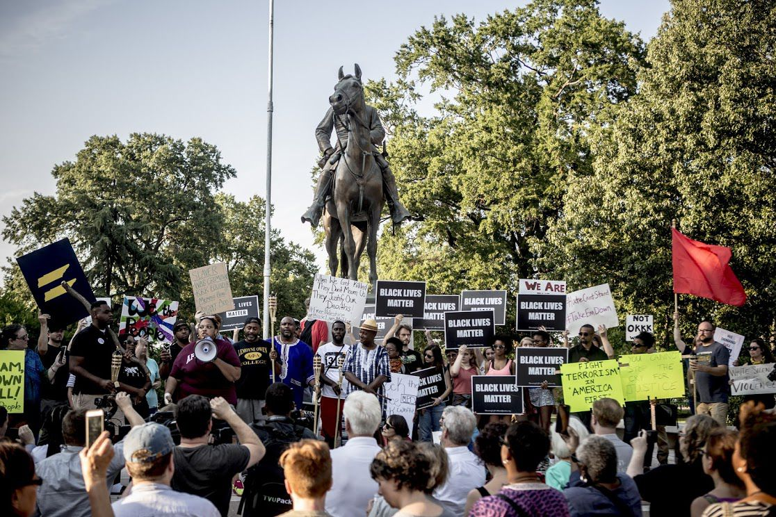 Memphis reacts to the white supremacist rallies in Charlottesville and the violence against counter protestors by gathering at the Nathan Bedford Forrest statue.