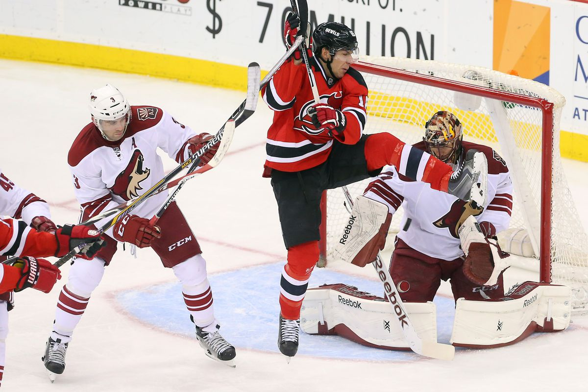 There was this kind of action at the last Devils-Coyotes game.  Really.
