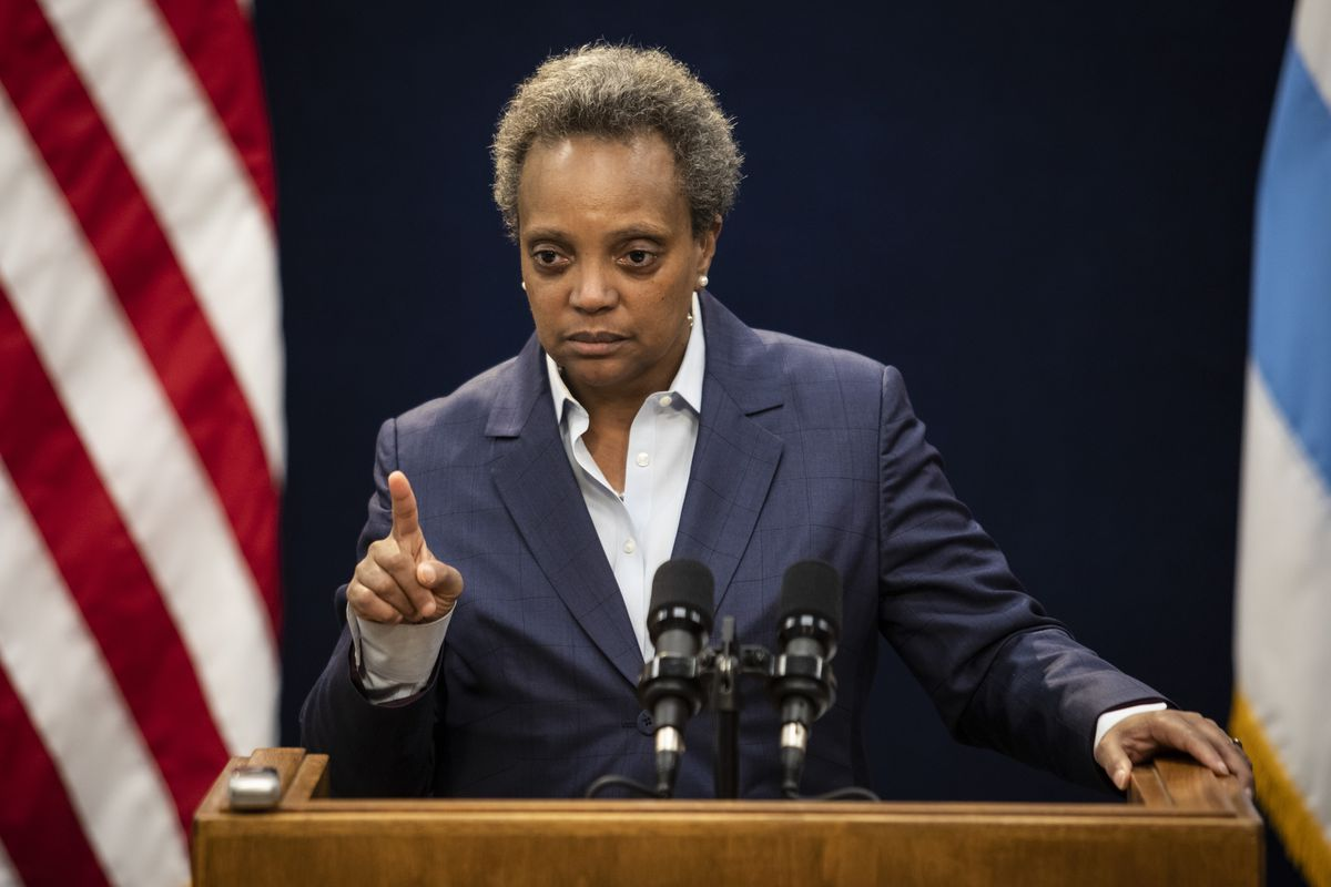 With abortion now on the front burner, Mayor Lori Lightfoot is urging the defeat of Rep. Dan Lipinski in the March Illinois primary.  Ashlee Rezin Garcia/Sun-Times