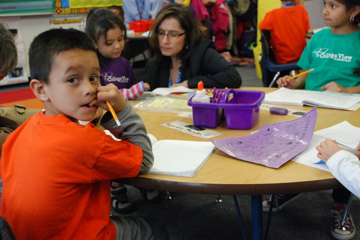 Students at Denver's College View Elementary.
