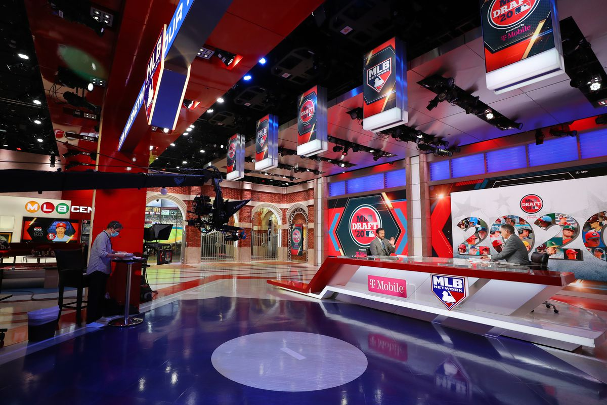 A general view of Studio 21 during the 2020 Major League Baseball Draft at MLB Network on Wednesday, June 10, 2020 in Secaucus, New Jersey.