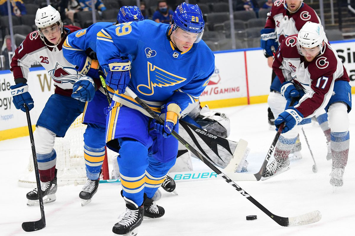 NHL: APR 24 Avalanche at Blues