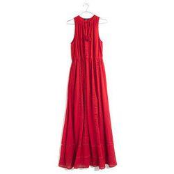 "<b>Madewell</b> Piazza Maxi Dress, <a href=""https://www.madewell.com/madewell_category/DRESSES/waistdefineddresses/PRDOVR~A6015/A6015.jsp?color_name=bandana-red"">$168</a>"