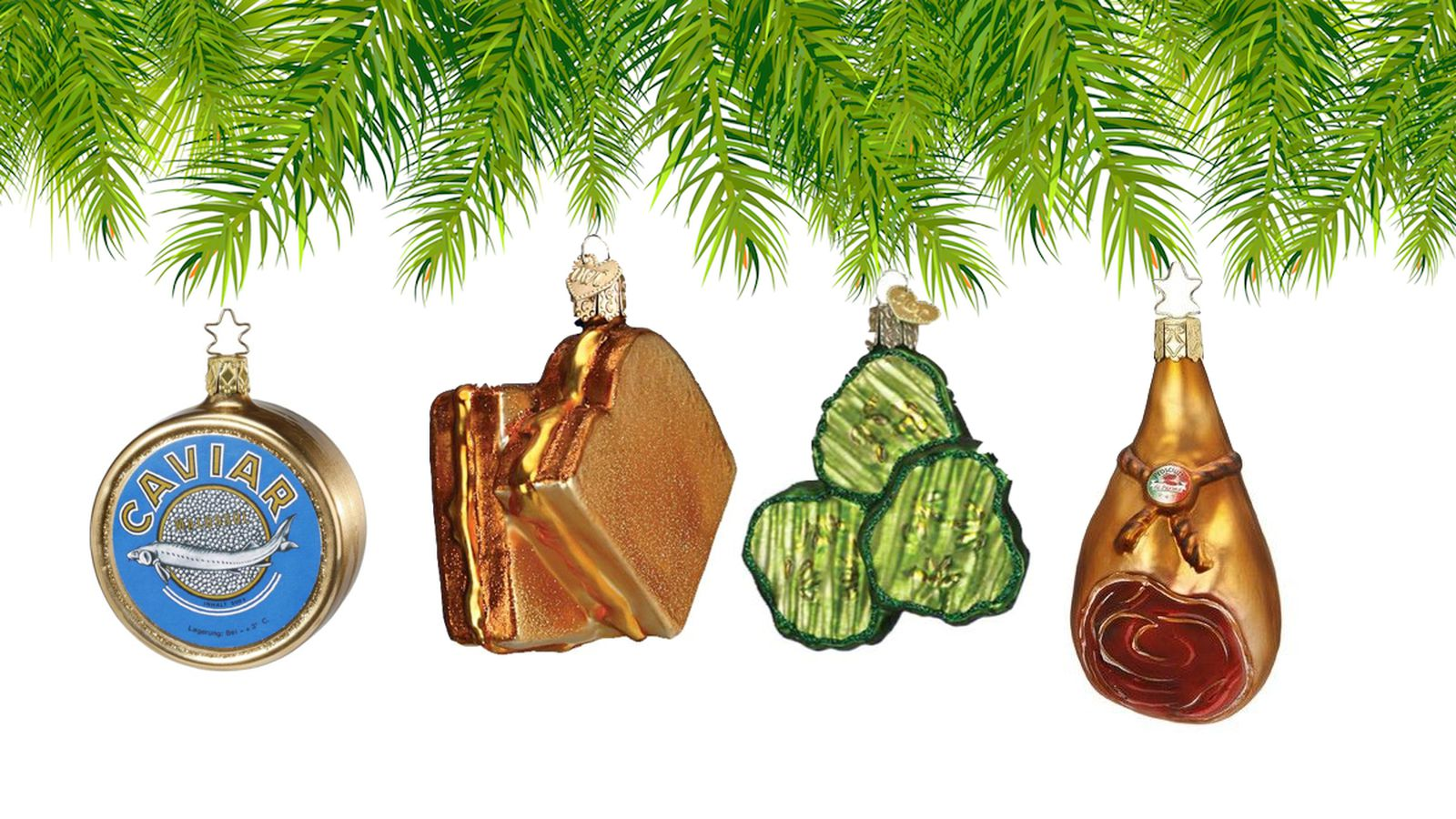 Food-Themed Christmas Ornaments Have Zero Calories and ...
