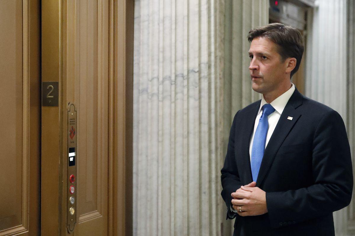 Sen. Ben Sasse, R-Neb., waits for the elevator after speaking on the Senate floor, on Capitol Hill, Wednesday, Oct. 3, 2018 in Washington. (AP Photo/Alex Brandon)