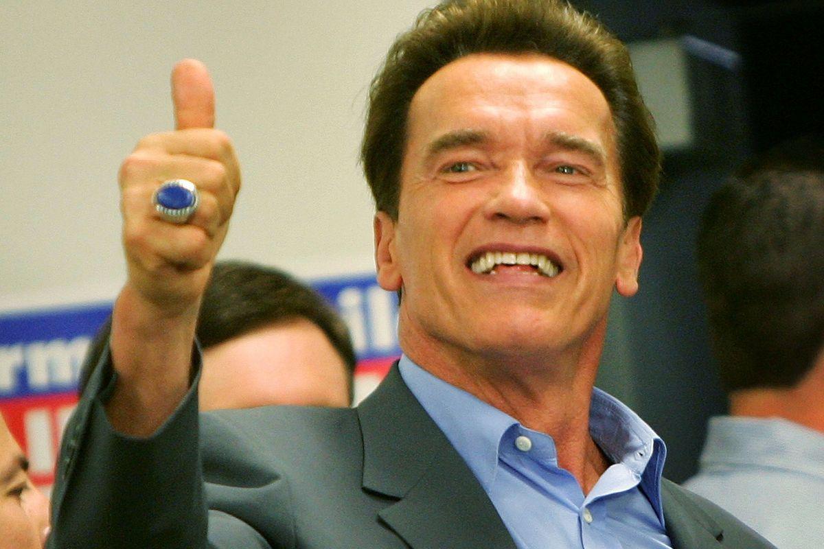 Schwarzenegger Campaigns For Ballot Initiatives Ahead Of Electio