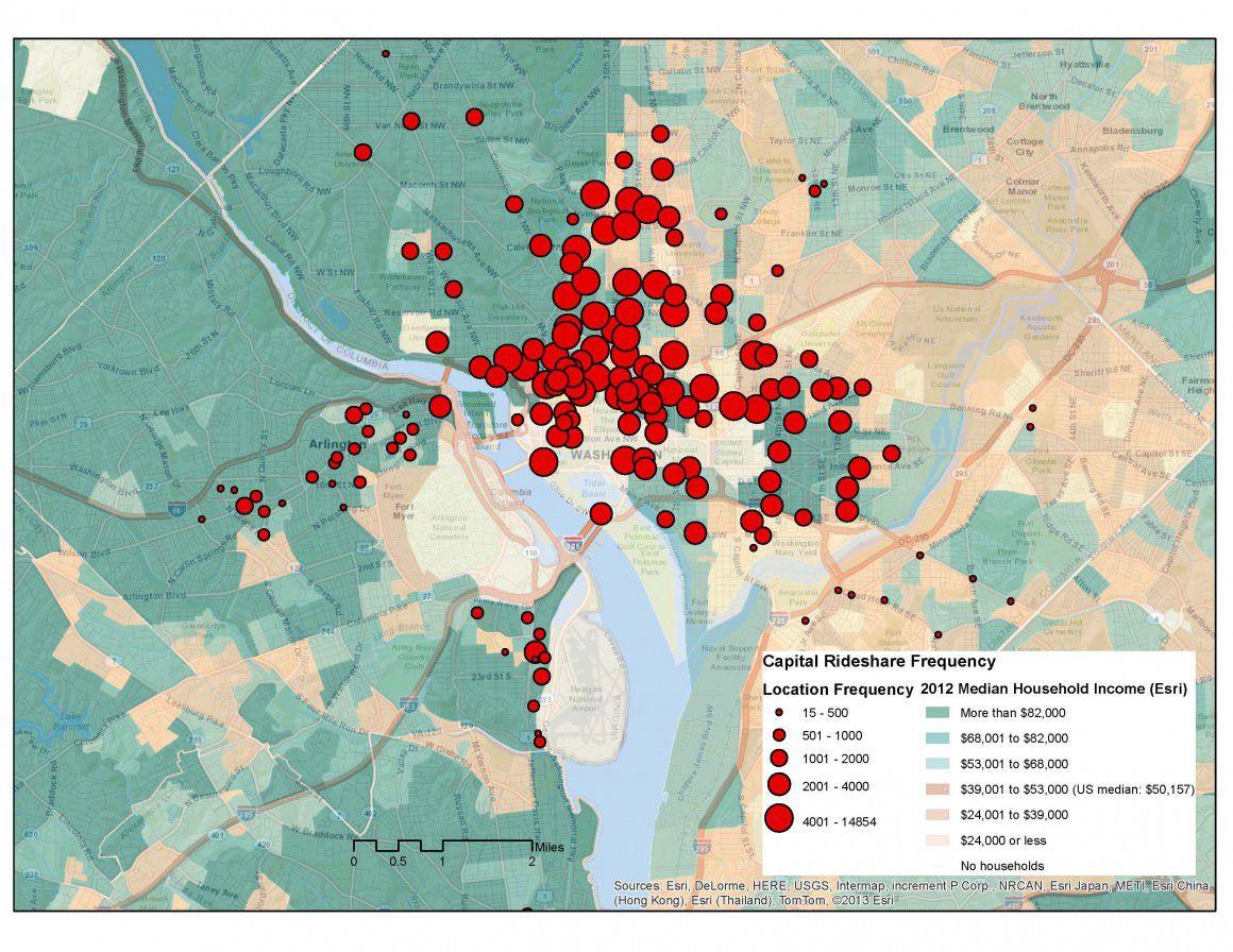 dc bikeshare usage map