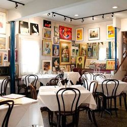 """Uptown's enviable art collection at Upperline. Photo from <a href=""""http://www.starchefs.com"""">Star Chefs</a>"""