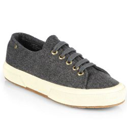 """<b>The Row for Superga</b> Cashmere Low-Top Sneakers, <a href=""""http://www.saksfifthavenue.com/main/ProductDetail.jsp?FOLDER%3C%3Efolder_id=2534374306418075&PRODUCT%3C%3Eprd_id=845524446610250&R=887474829845&P_name=THE+ROW+FOR+SUPERGA&N=306418075+1553&bmUI"""