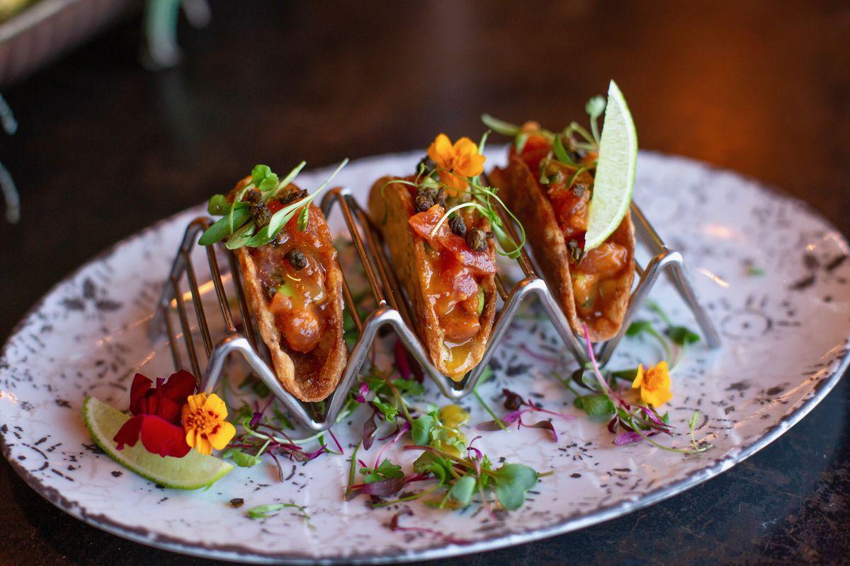 Tuna tacos at Vanderpump Cocktail Garden