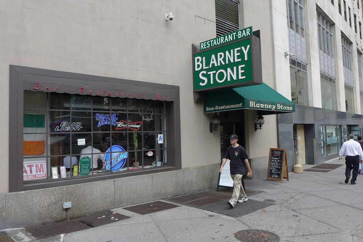 [The Blarney Stone at 11 Trinity Place in the Financial District.]