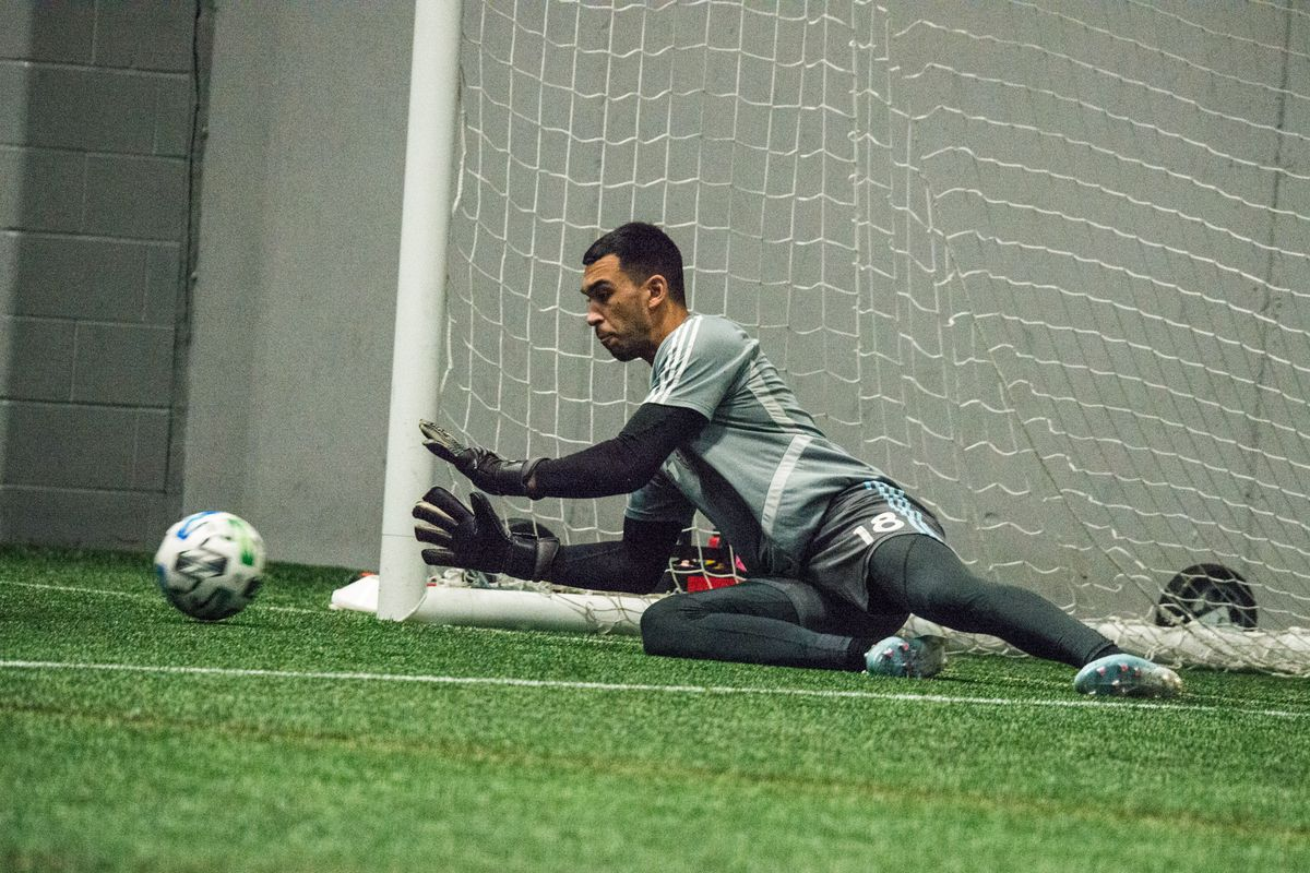January 21, 2020 - Blaine, Minnesota, United States - Gregory Ranjitsingh during a training at National Sports Center. (Photo by Tim McLaughlin)