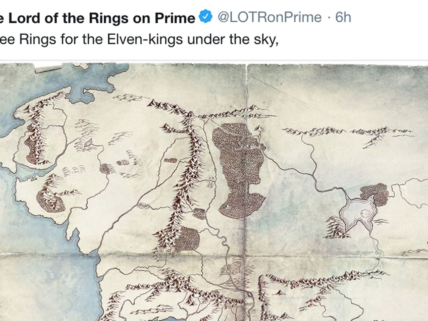 Middle Earth Map From Amazon S Lord Of The Rings Tv Series Gives