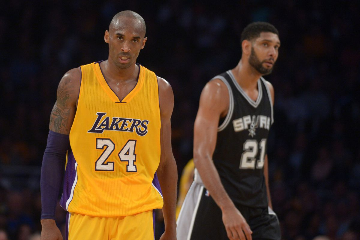32e5dac2638 Contrasting the difference in the end of the careers of Tim Duncan and Kobe  Bryant