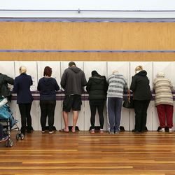 Voters at the Woongarrah Public School on July 2, 2016 in Gosford, Australia.