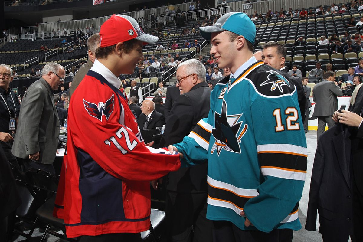 San Jose Sharks draft pick Danny O'Regan, right, is the top line center for Boston University.