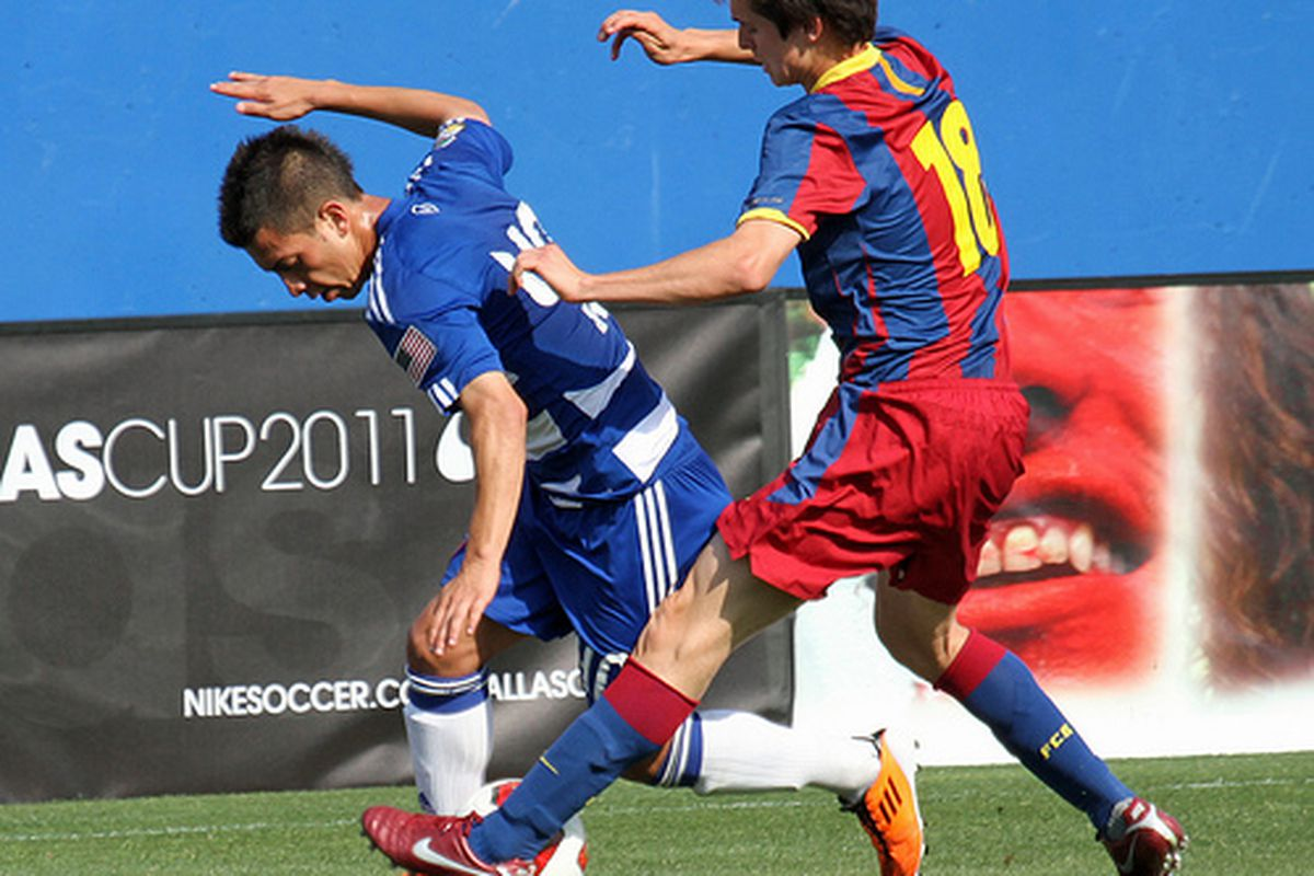 Leyva and FCD dismantled Barcelona at Dallas Cup earlier this year.