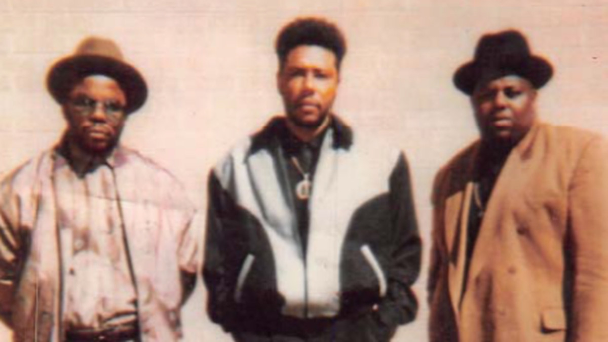 Gangster Disciples leader Larry Hoover, center, with top gang lieutenant Gregory Shell (left) and gang associate Keith McCain.