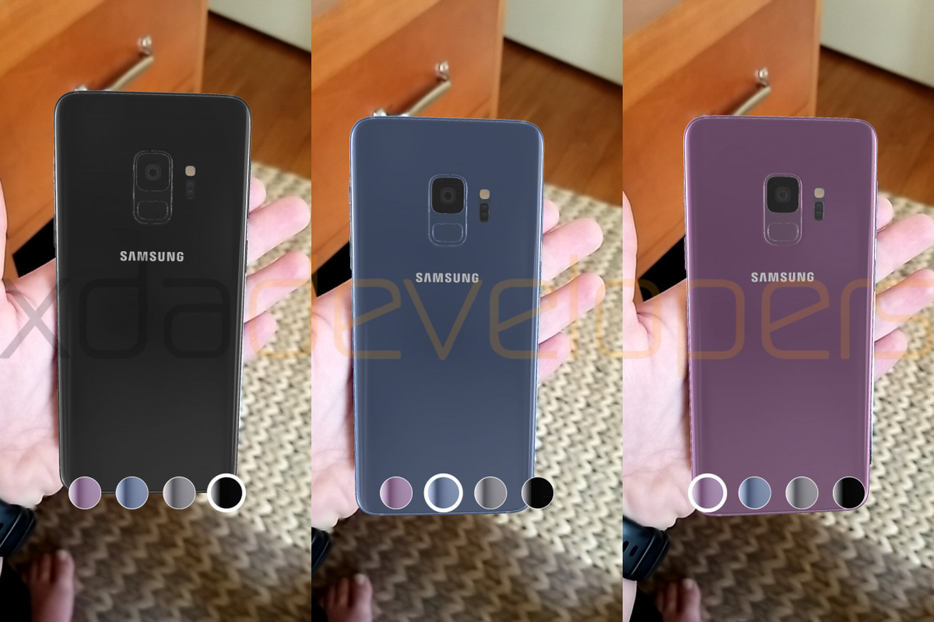 samsung will let people hold the galaxy s9 in augmented reality and of course it leaked early