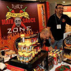 The hottest hot sauce at the fest, was by far New Jersey-based Blair's.