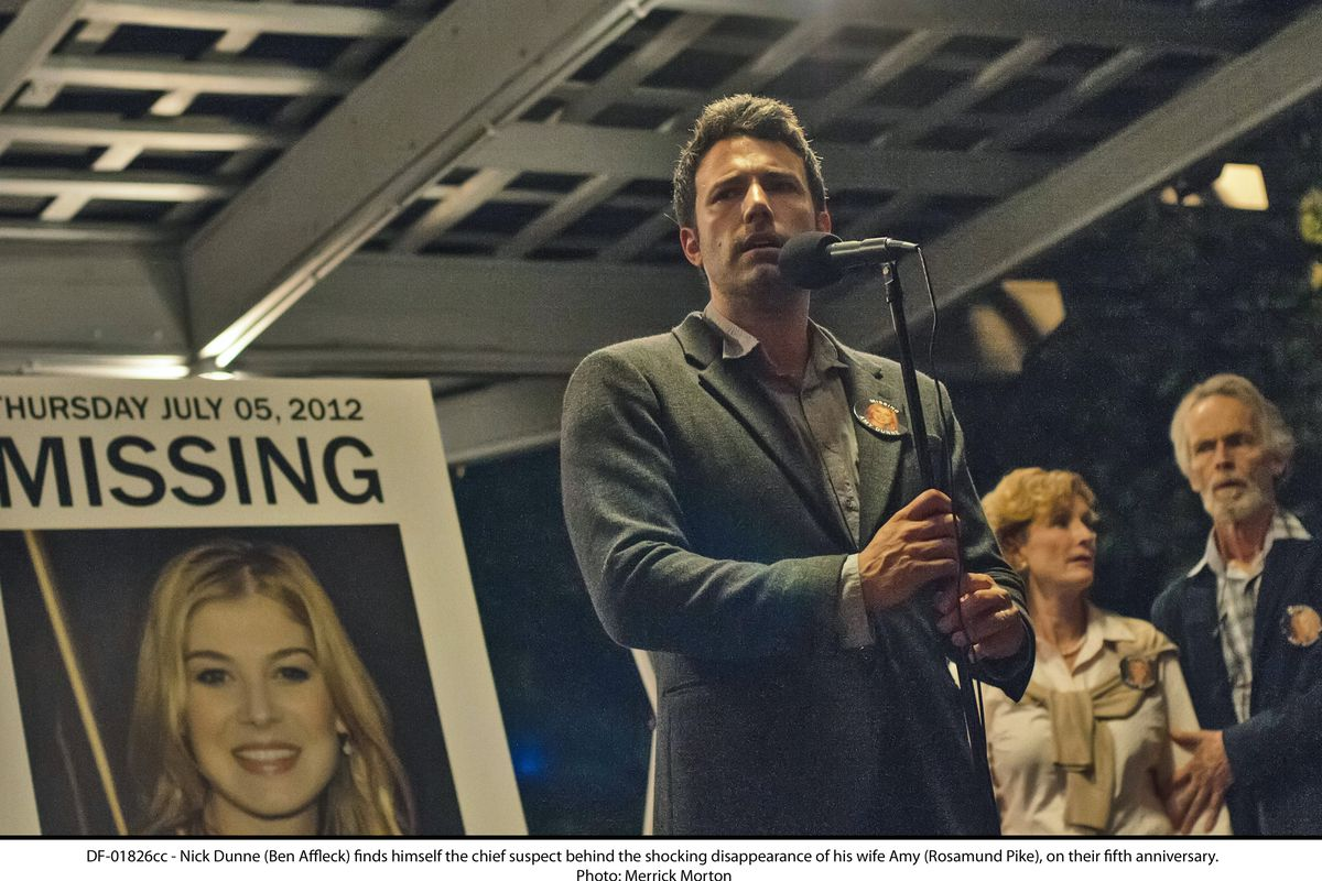 Ben Affleck leans into what a lunk his character is in the terrific Gone Girl.
