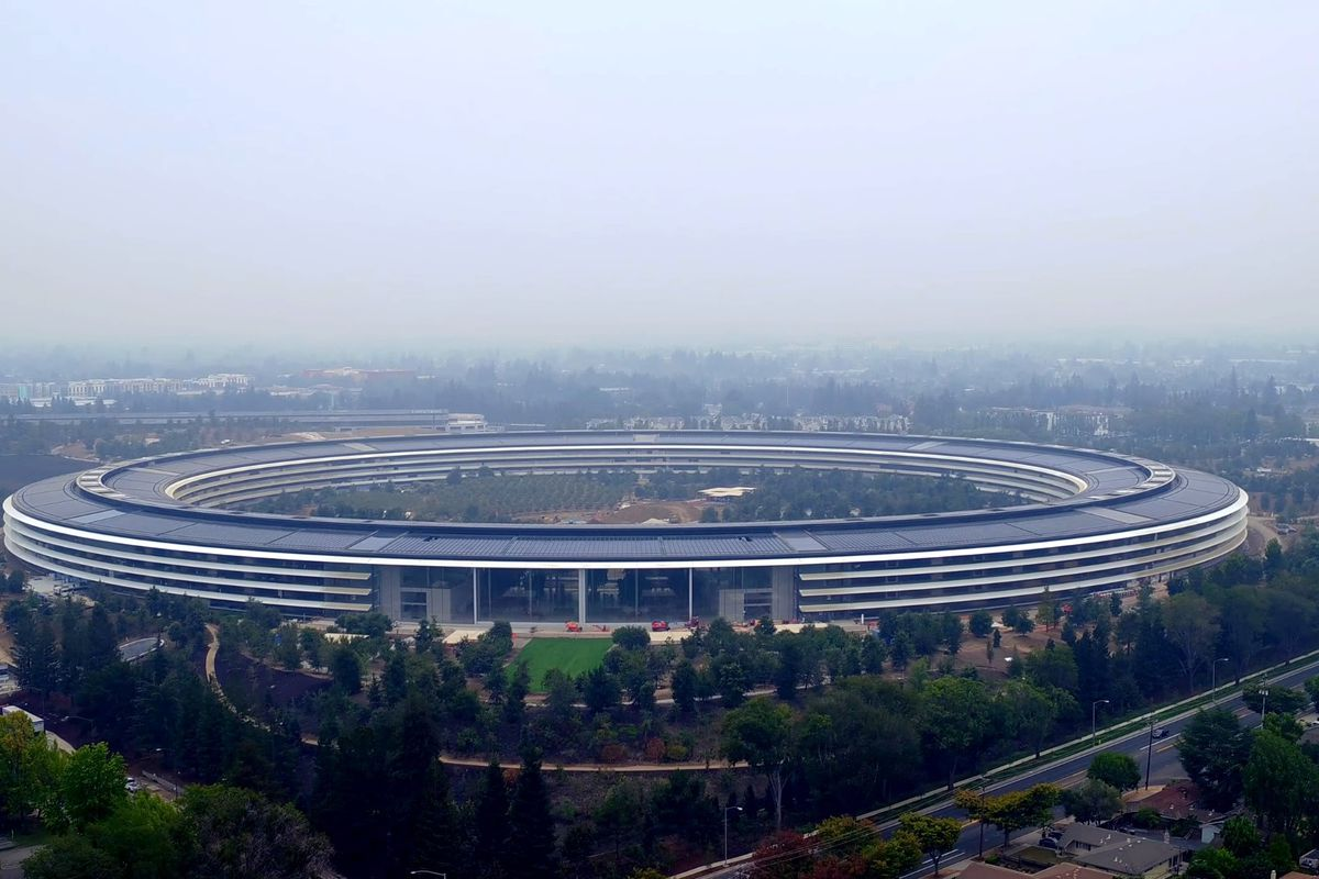 Video Drone Crahes Into Apple Park Curbed Sf