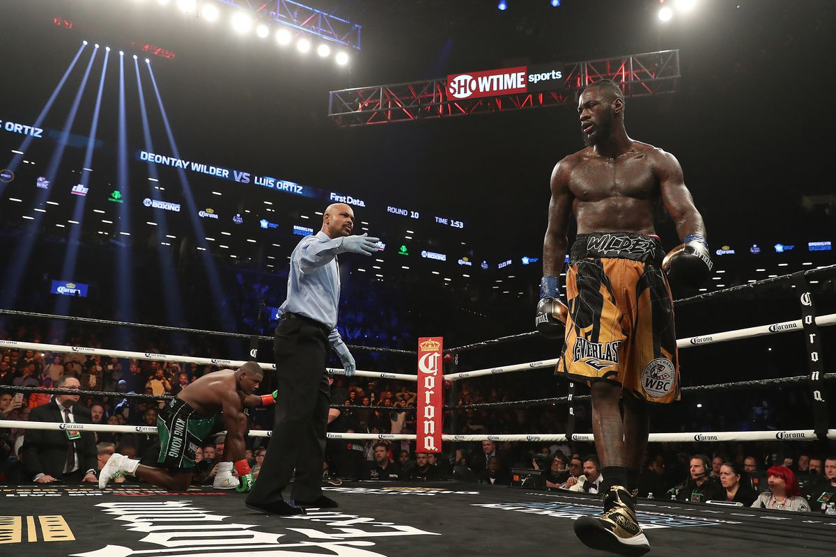 dfd1a3d1031c Watch the highlights of an epic comeback KO for Deontay Wilder ...