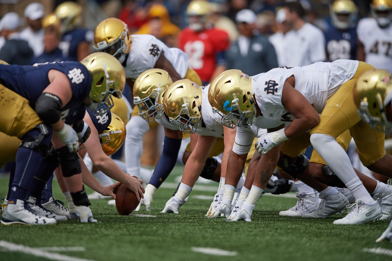 Brian Kelly is extremely high on Notre Dame's starting offensive line