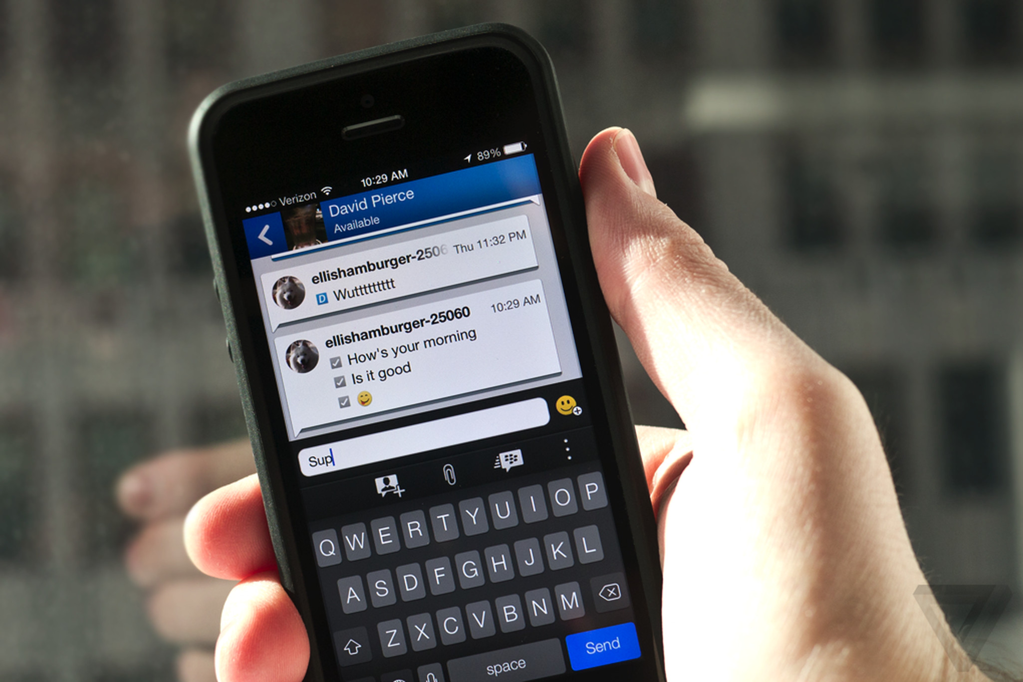 Message unread: BBM for iPhone and Android review | The Verge