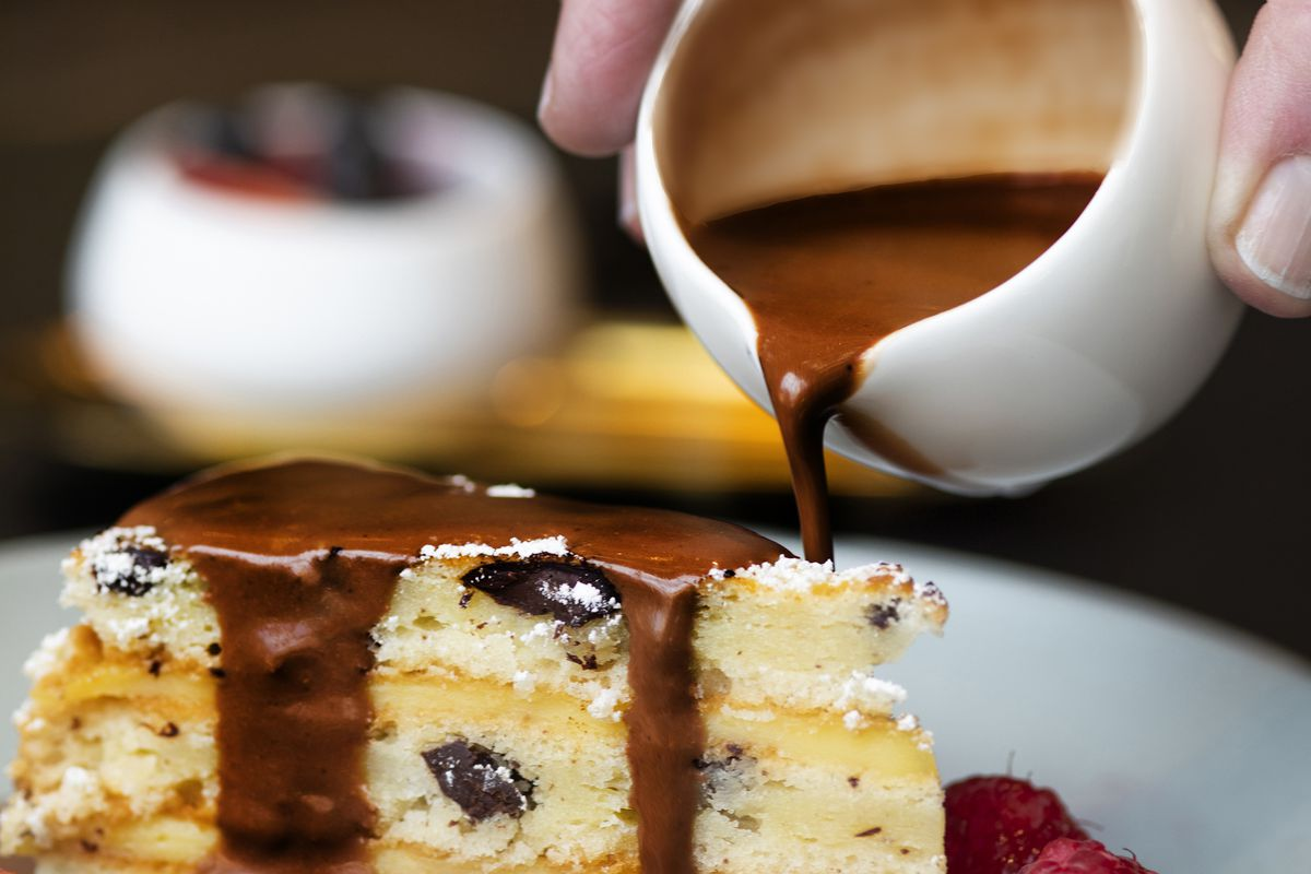 Cake for Breakfast: the chocolate chip pancake cake at Bloom