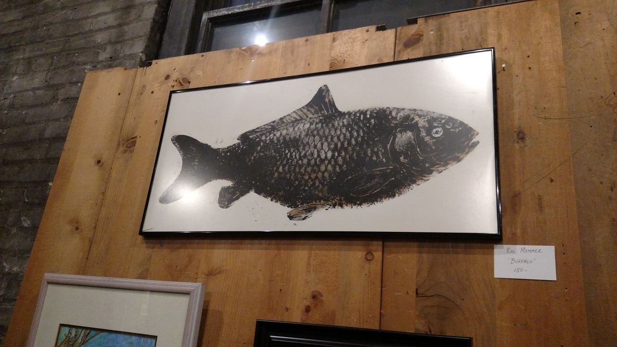 """Rol Mommer's """"Buffalo"""" is one highlight of """"Fishing Season"""" at Paul Henry's Art Gallery.<br>Credit: Dale Bowman"""
