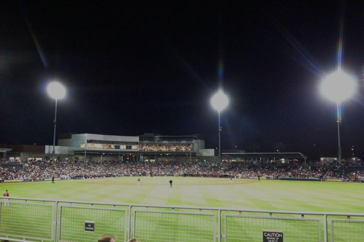 Beautiful night for baseball!