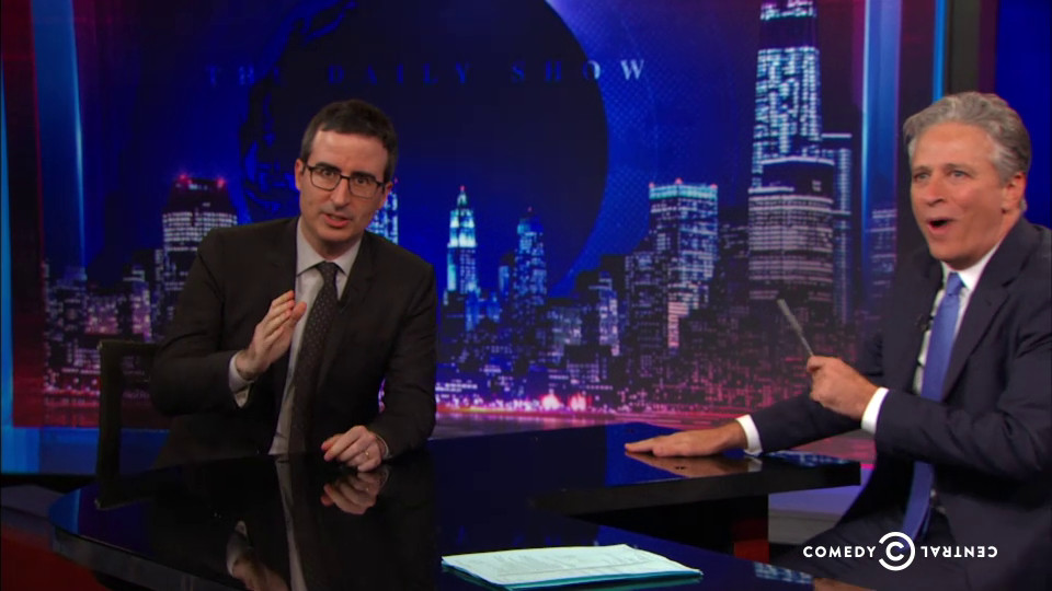 John Oliver on the final Daily Show.