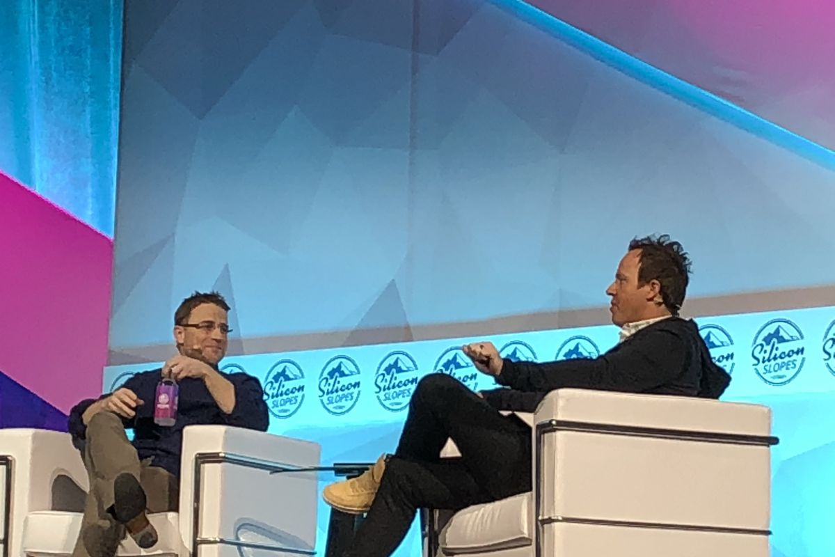 Qualtrics CEO Ryan Smith interviewed Slack CEO Stewart Butterfield to kick off the event. The two spoke about product development and failure.