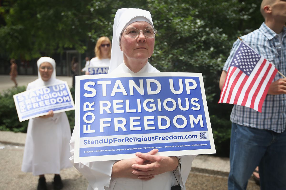 A group of nuns argue that filling out a form violates their religious freedoms.