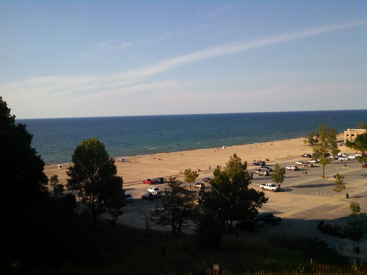 """A view of Lake Michigan at Indiana Dunes State Park,one treasure mentioned in """"Nature in Chicagoland."""" Credit: Dale Bowman"""