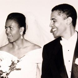 As the Obamas got married on October 2nd, 1992, Michelle wore an off-the-shoulder design that still holds up today.