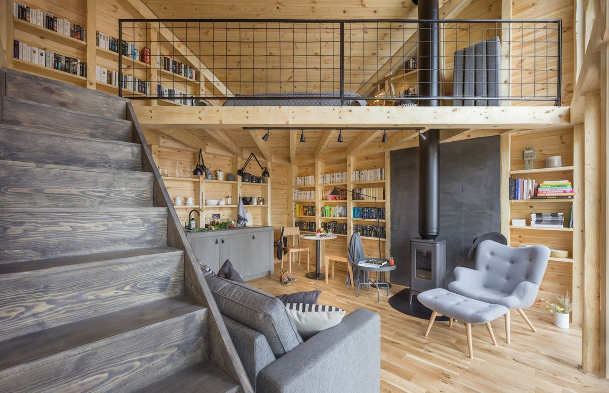 Cozy Cabin Custom Designed For Reading In Poland Curbed