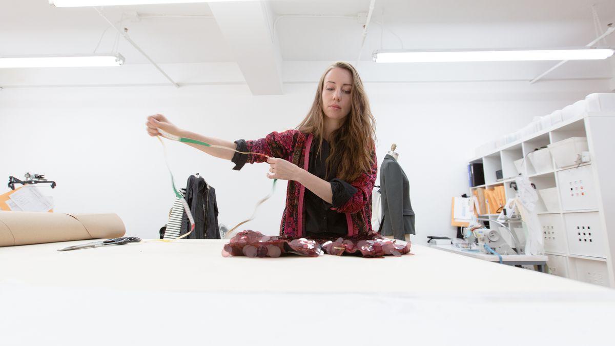 Christy Rilling in her New York studio. Photo: Alex Ulreich