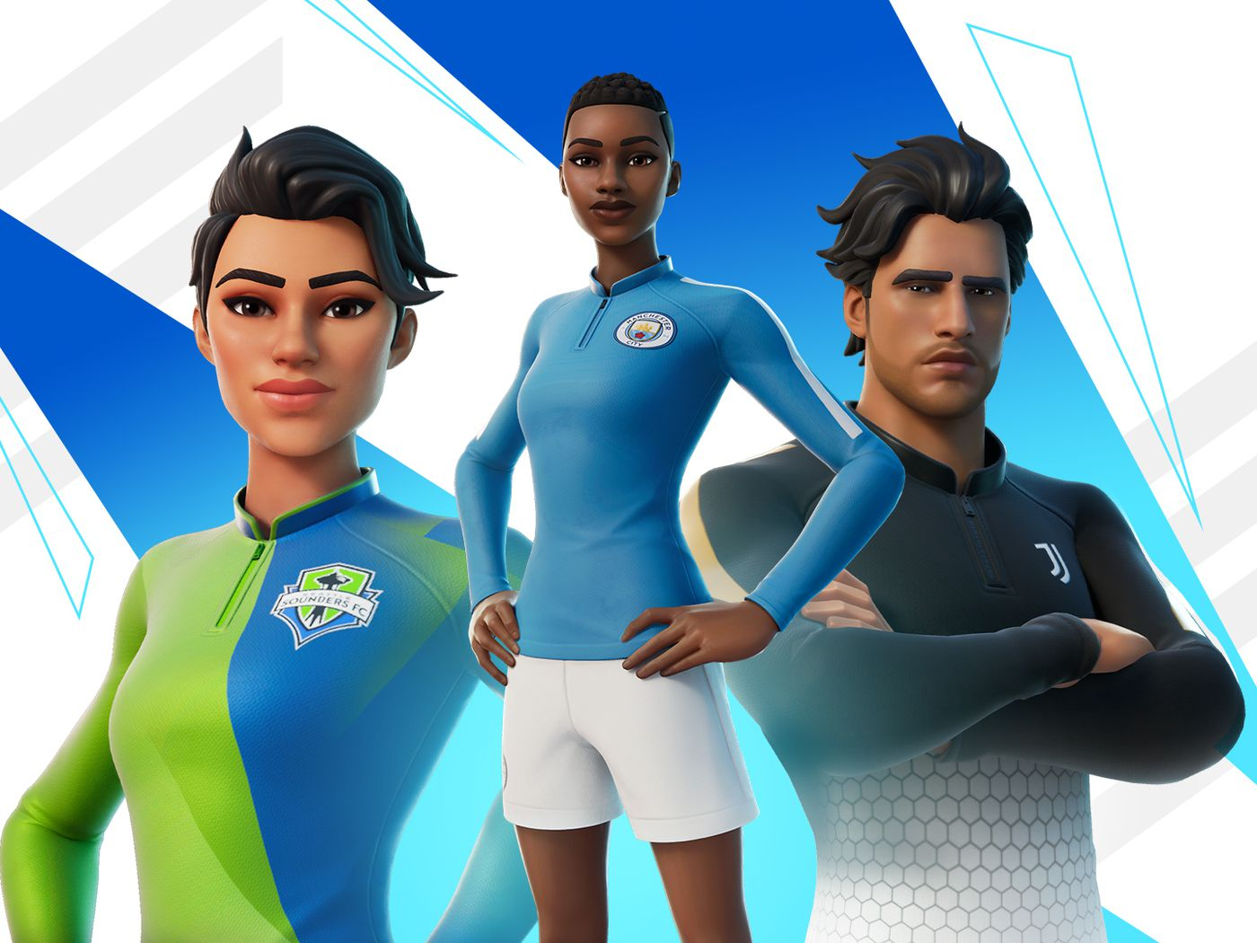 Cool Fortnite Soccer Skin Backgrounds Fortnite S New Soccer Skins Feature Big Teams Like Manchester City And Juventus The Verge