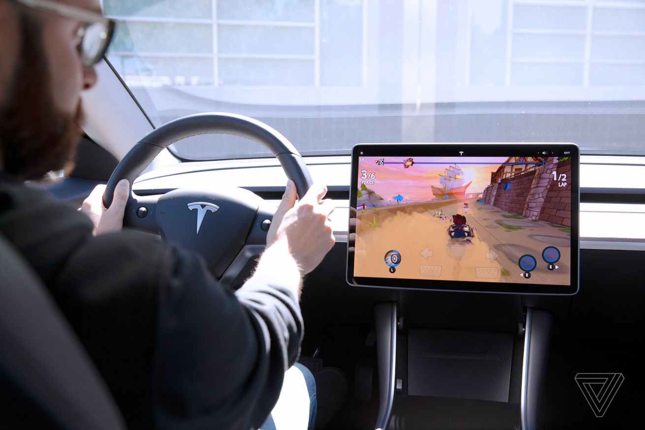 tesla arcade hands on using a model 3 steering wheel as a game controller