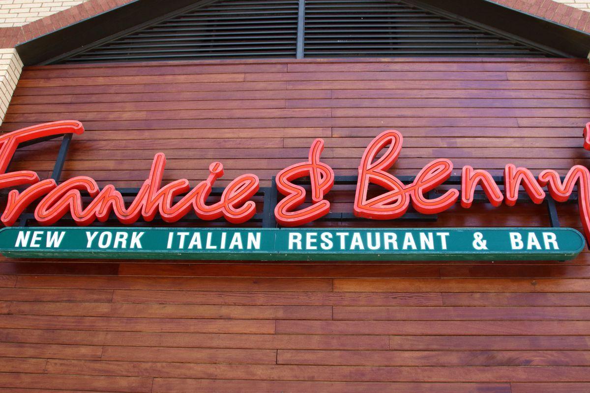 Frankie & Bennys logo seen at one of its U.K. restaurants