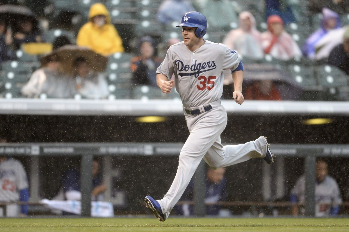 Jamie Romak when he was with the Dodgers